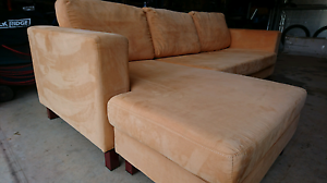 Microsuede fabric couch chaise lounge Dayboro Pine Rivers Area Preview