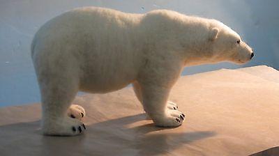 Needle Felted Animal Wool Soft Sculpture Polar Bear