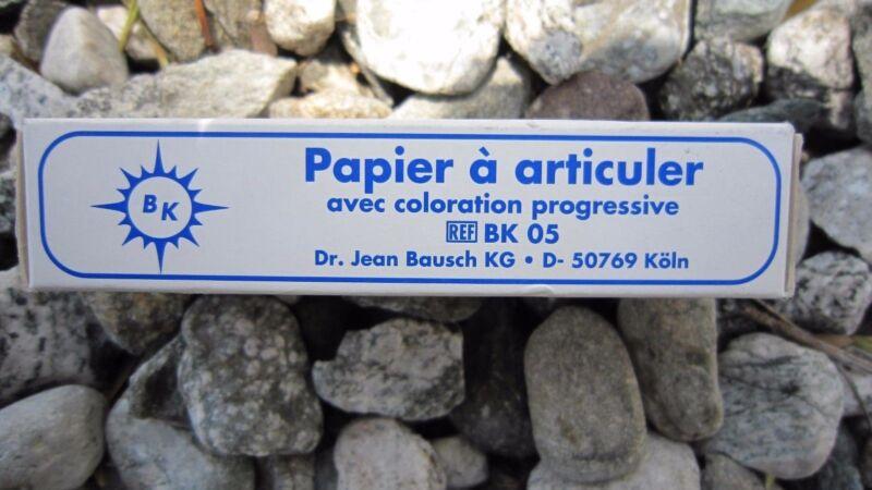 """Bausch Articulating Paper 200 Microns/.0080"""" 300/STRIPS #BK-05"""