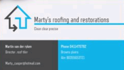 Marty's roofing and restorations