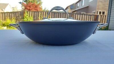 """Calphalon 11"""" Braiser Pan Hard Anodized Aluminum Glass Lid """"nonstick"""" Toledo USA"""