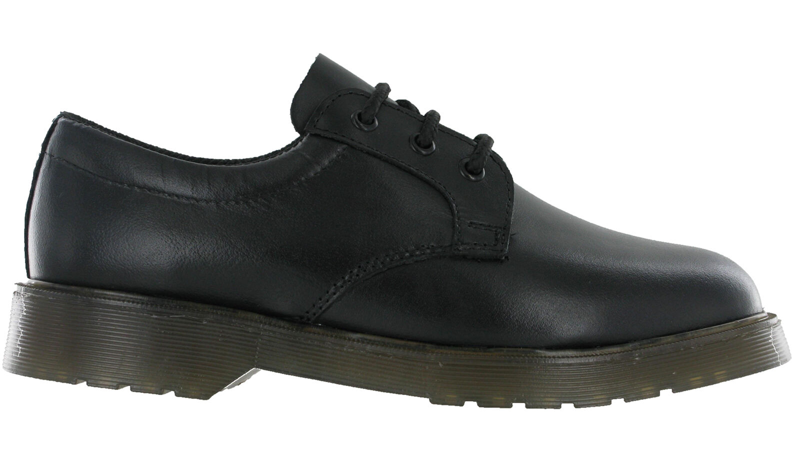 MENS GRAFTERS BLACK LEATHER 3 EYELET LACE UP SECURITY  UNIFORM SHOES M162A