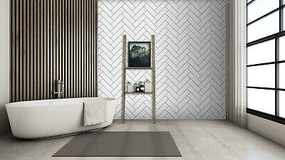 3D Horizontal Brick Wave 4 Texture Tiles Marble Wall Paper Decal Wallpaper Mural - Horizontale Textur Wallpaper
