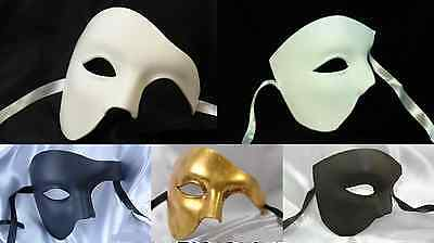 PHANTOM OF THE OPERA MASQUERADE MARDI GRAS COSTUME BLANK FACE MASK BLACK WHITE   - The Phantom Of The Opera Costume
