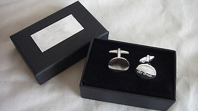 Personalised Silver Plated Cufflinks Boxed,Free Engraving and p&p.Best