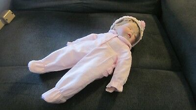 "Vintage Kathy Barry Hippensteele Doll-Sleeping Baby-14"" for sale  Allison Park"