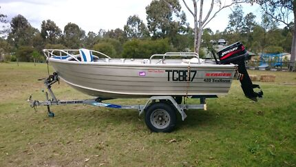 Stacer Seahorse Runabout 4.20 mtrs  Cedar Vale Logan Area Preview