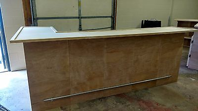 Home Bar Kit, 120x24x42 w/36x24x42 Side, Seats 9, S&H Incl., Finish Available