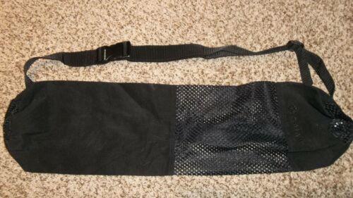 "Gaiam Black Yoga Mat Equipment Bag Shoulder Carrier 25"""