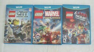 Bundle of 3 Wii u Lego Games: City Undercover, Marvel Super Heroes, Lego Movie V