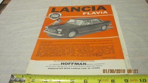 Lancia Flavia  Vintage Print Ad (A)