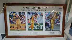 """Framed Cricket Memorabilia """" One Day Heroes """" $179 Nowra Nowra-Bomaderry Preview"""