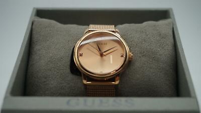 Guess Men's Rose Gold Diamond Mesh Bracelet Watch U0280G2 Gold Diamond Mesh Bracelet