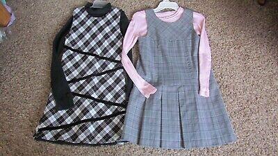 Girls Lot of 2 Jumper Dresses Dress Plaid Size 7/8 Children's Place Cherokee