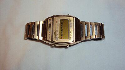 Vintage Seiko A159-4039-G Men's Quartz LC chronograph alarm watch