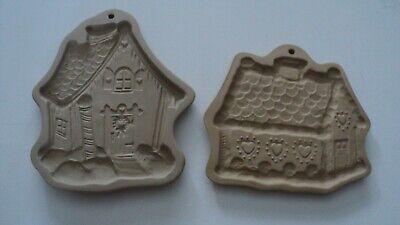 Vtg Brown Bag Cookie Art Gingerbread Shortbread Christmas House Cottage Molds
