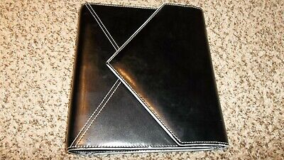Franklin Covey Black Genuine Leather Classic 3-fold Planner 7-ring Binder