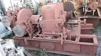 General Electric Steam Turbine and Gearbox 750KW Type 7TDRY125MR36 575psig 750°