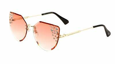 Peach Rimless Cat-Eye Sunglasses for women  with (Women With Cat Eyes)