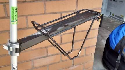 Bike luggage rack and bike lock