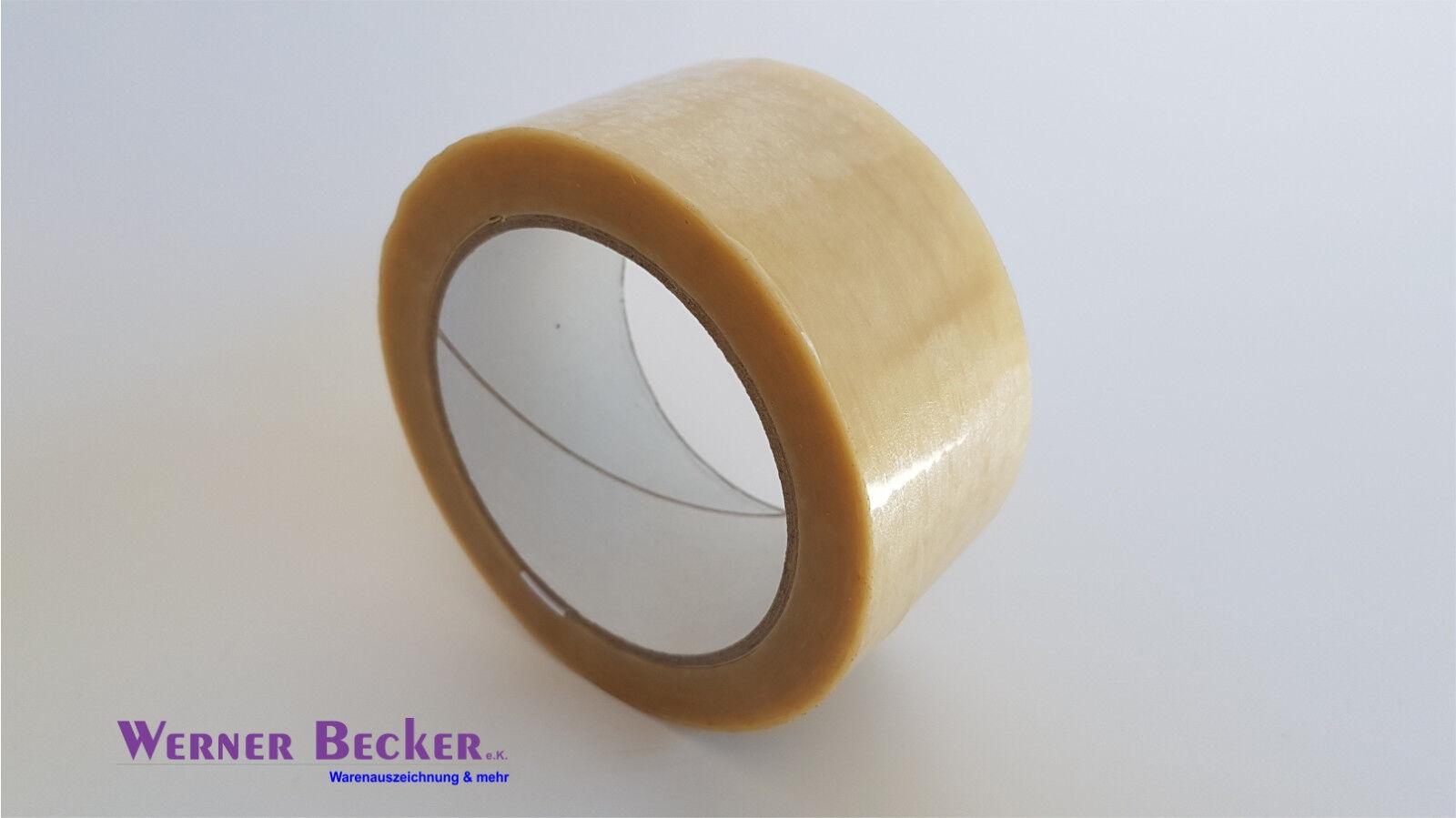 6 x Klebeband Packband braun Acrylat-Kleber 48mm 66Mtr