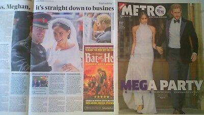 PRINCE HARRY &MEGHAN WEDDING 19 MAY UK METRO EVENING STANDARD NEWSPAPERS CHELSEA