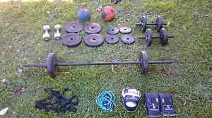 Cheap weights dumbbells barbell training gear Lidcombe Auburn Area Preview