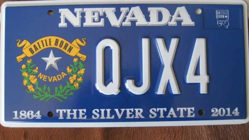 Nevada 2014 Battle Born new license plate.