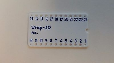Lot Of 5 - Wire Wrap Socket Id 24 Pin Dip Label - 0.6 15mm Row Spacing