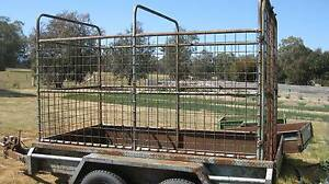 Tandem Trailer with Stock Crate Euroa Strathbogie Area Preview