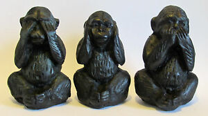 THREE WISE MONKEY'S SET.... HEAR NO, SPEAK NO, SEE NO..