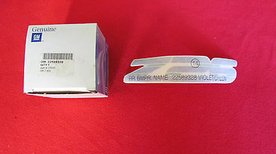 "NEW OEM 1987-1996 Chevy Beretta ""Z26"" Violet/Green Bumper Decal 22589328"