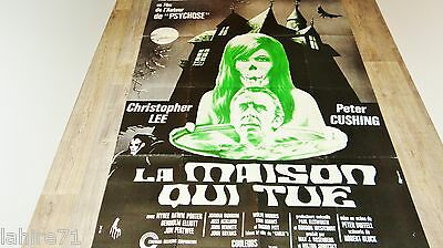 LA MAISON QUI TUE   ! peter cushing c lee  affiche cinema  epouvante 1971