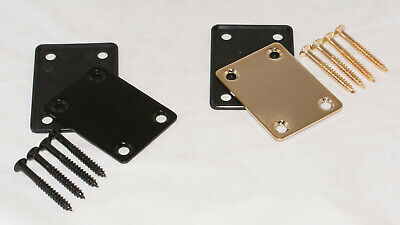 66mm X 47mm ELECTRIC GUITAR NECK JOINT PLATE WITH GASKET & SCREWS / BK/GD