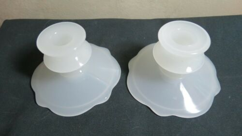 Beaumont Glass Ferlux Candle Holder Pair