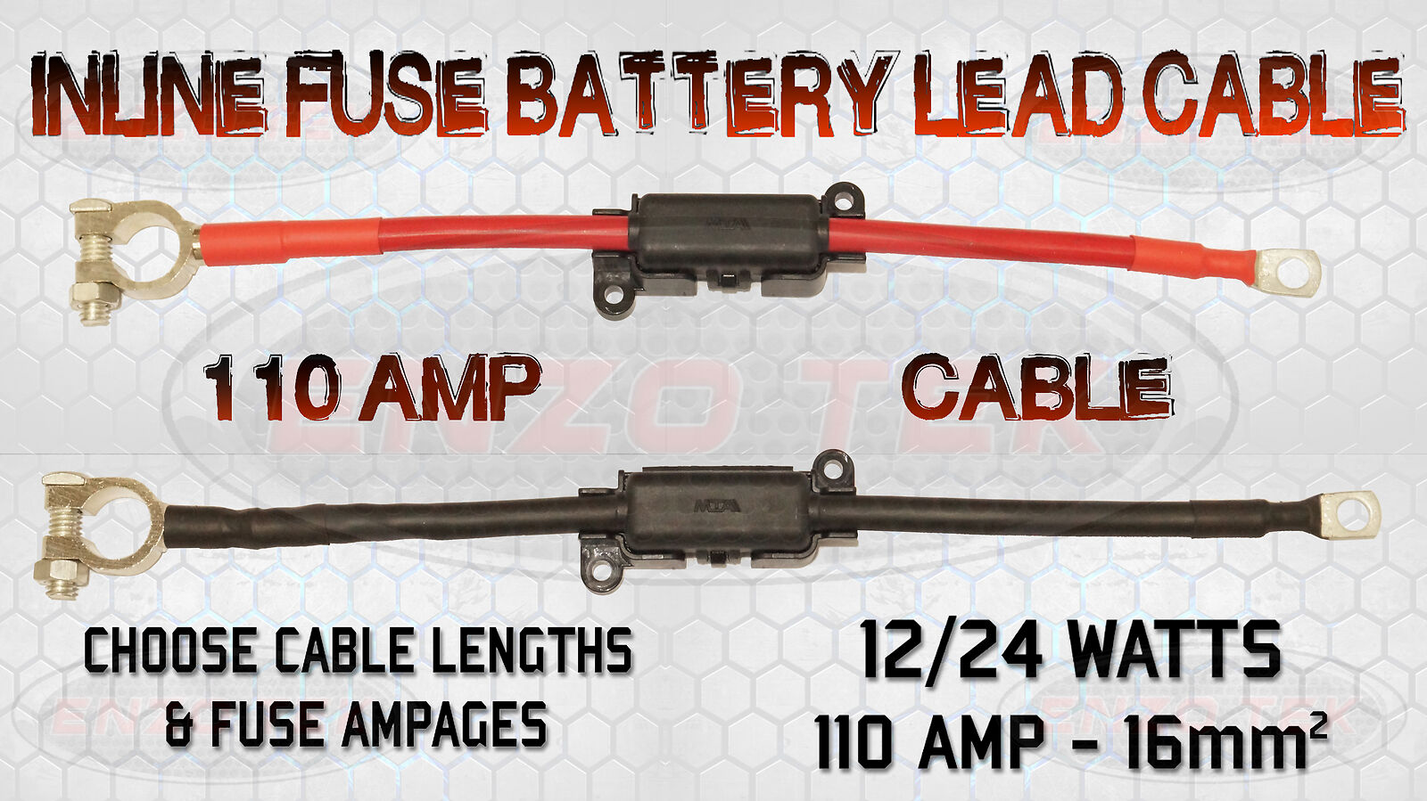 LEISURE BATTERY LEAD BUILT-IN MIDI FUSE BOX JUMPER CABLE LINK LEAD LUGS 70 AMP