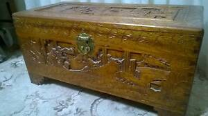 Camphor Wooden Blanket Box Chest Eastwood Ryde Area Preview