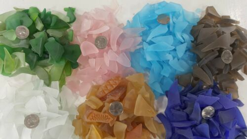 Artisanal Cultured Artist Quality Sea Glass 9 Colors! 1 lb. Bags Discounted Ship