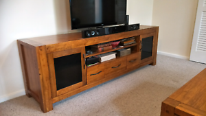 Dining Table, Coffee Table, TV Unit, matching, as new, $2800.00 O