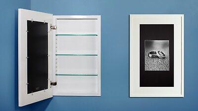 recessed medicine cabinet w/ picture frame door, no mirror, white interior (Cabinet Frame)