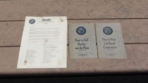1920s Ozarka Radio Salesman Brochures & Information Booklets