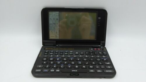 Vintage Sharp Wizard OZ-9600 256KB PDA Electronic Organizer VTG Tested and Works