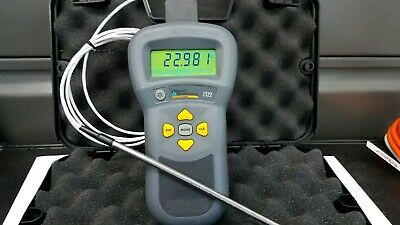 Fluke 1522 Thermometer Readout With Probe And Connector Hart Scientific
