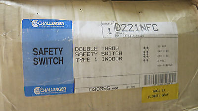 Challenger D221nfc 30 Amp 240 Volt 2 Pole Double Throw Switch New -ats174