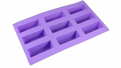 Bakerpan Silicone Mini Cake Holders, 9 Cavities, Pastry Mold, Mini Loaf Pan