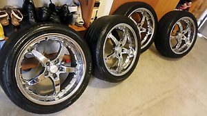 ANZ 19 inch x 8 chrome wheels and good tires Rochedale South Brisbane South East Preview