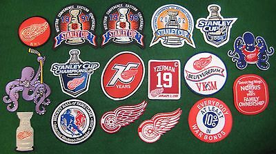 Detroit Red Wings Patches    Pick Your Patch    1997 1998 2002 2008 Stanley Cup