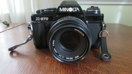 Minolta X-570 35mm Film Camera MD 50mm f/1.7 Lens