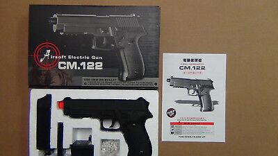 CM122 Airsoft AEP Semi/Auto Electric Metal Gear Body Pistol Hand Gun 6mm BB