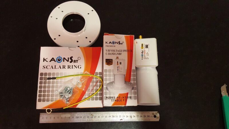 KAONSAT LNB C Band Single Premium KS-N201G Full HD LNBF 1080p F2 KAON-SAT 13K